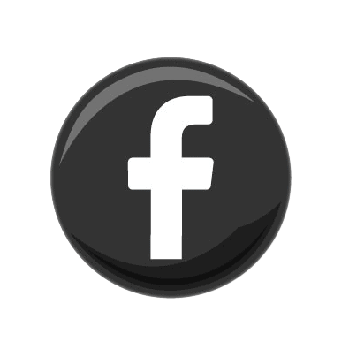 logo facebook gris rond